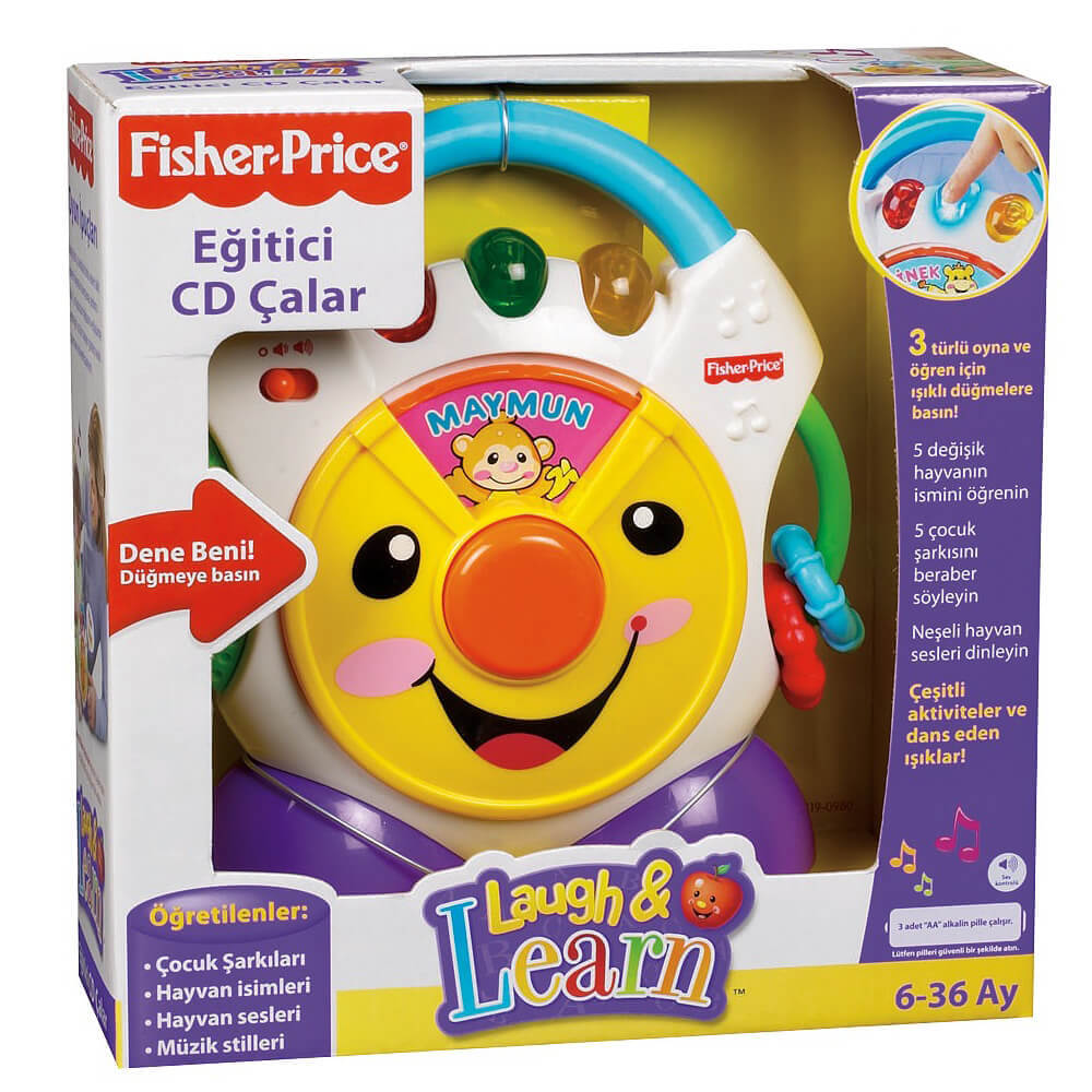 Mattel Fisher - Price Lough & Learn Eğitici CD Çalar (Türkçe) N3837