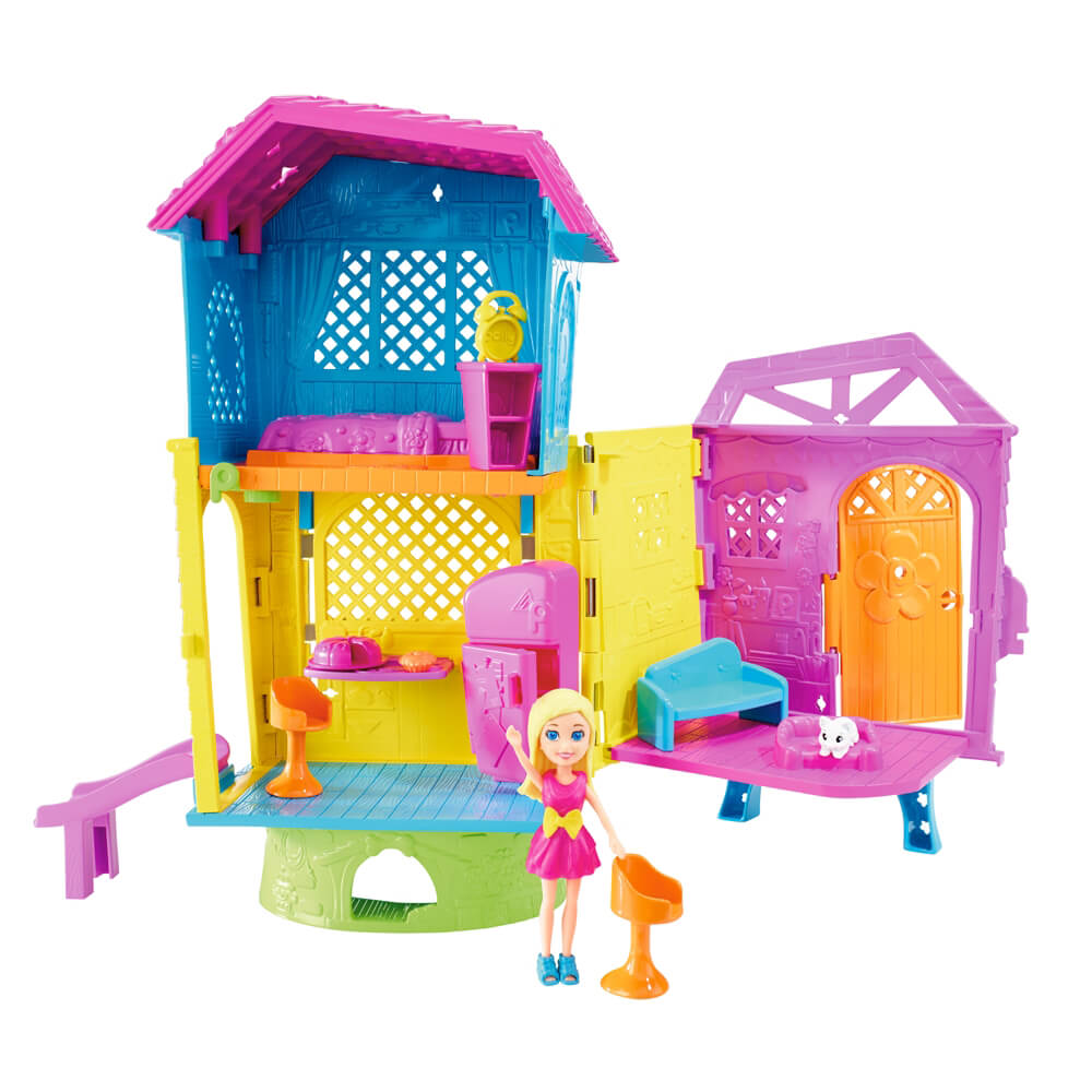 Mattel Polly Pocket Polly ve Eğlenceli Evi DHW41