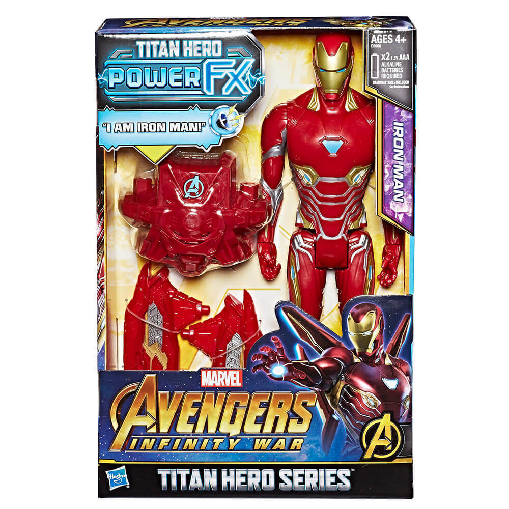 Hasbro Avengers: Infinity War Titan Hero Power FX Iron Man Figür E0606