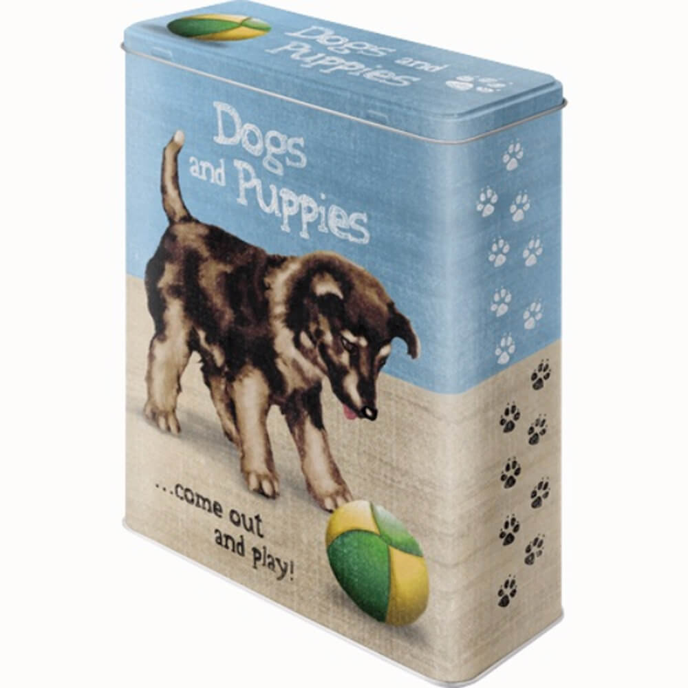 Dogs and Puppies Metal Kutu30310