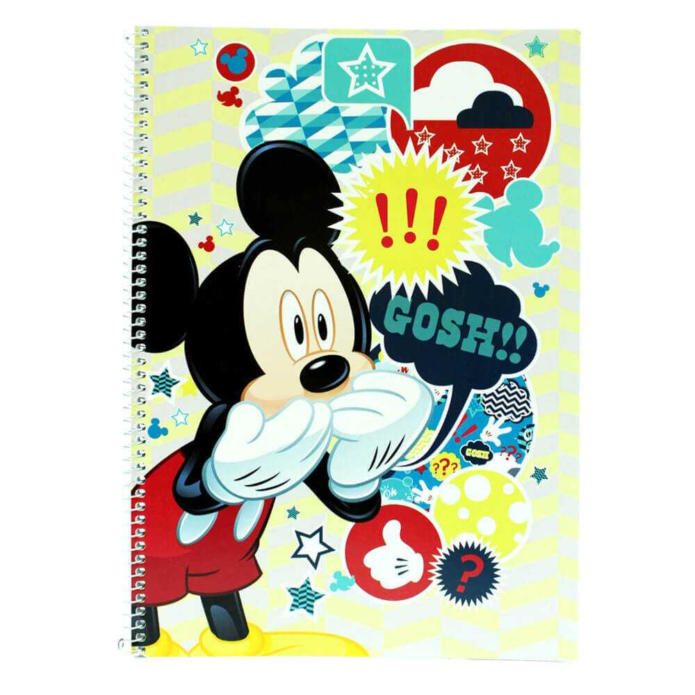 Mickey Mouse Text Up Defter A4 60 yp Kareli