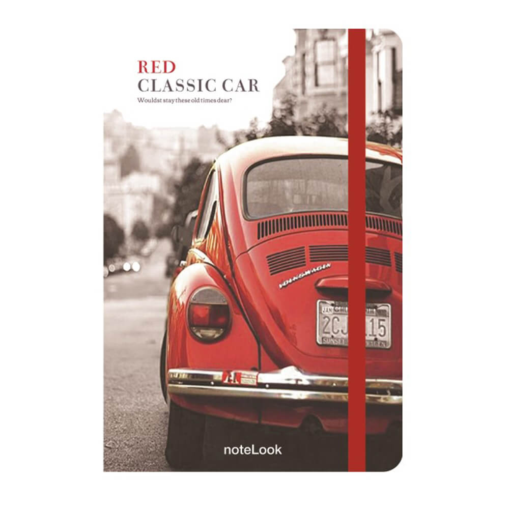 Scrikss Red Classic Car A6 Çizgili