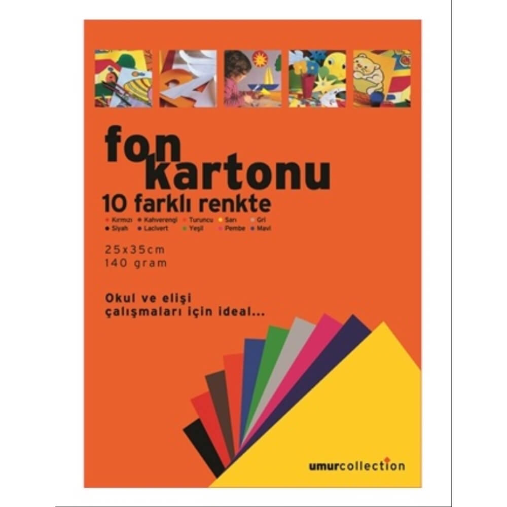 Craft and Arts Fon Kartonu 120 gr 10'lu 25x35 Poşetli