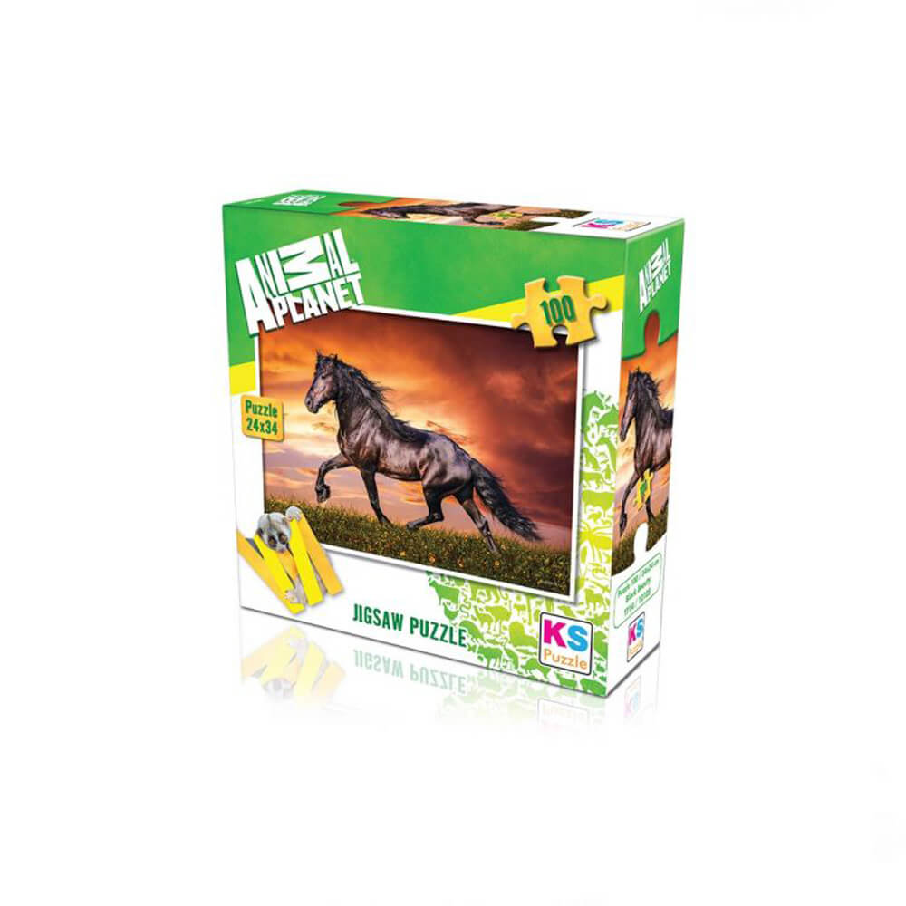 Animal Planet Puzzle Black Beauty 100 Prç 10105