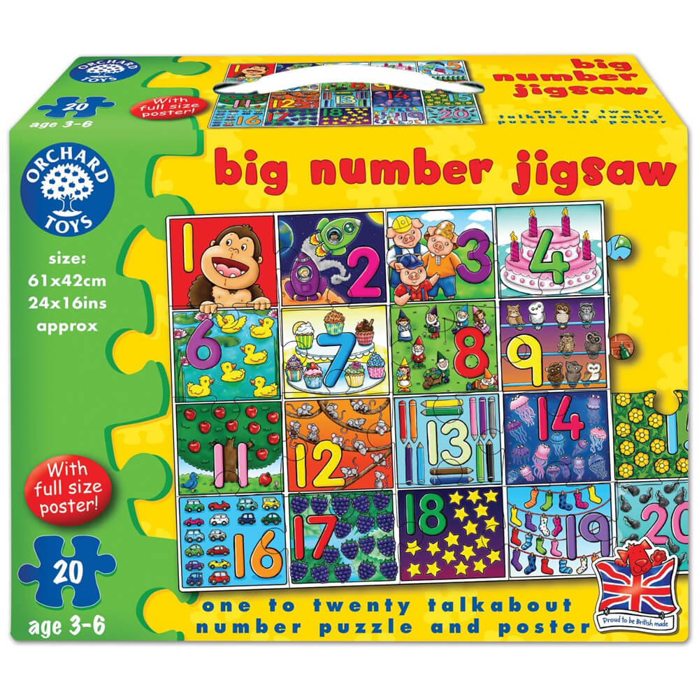 Orchard Big Number Jigsaw 3 - 6 Yaş+ 237