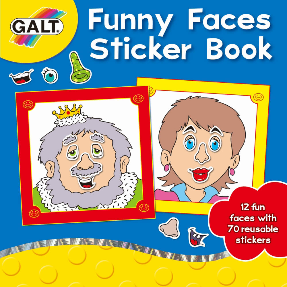 Galt Funny Faces Sticker Book 3 Yaş+ A3069A