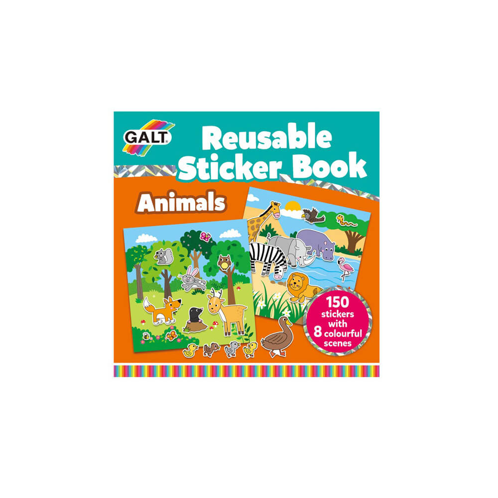 Galt Reusable Sticker Book Animals 3 Yaş+ 1005098