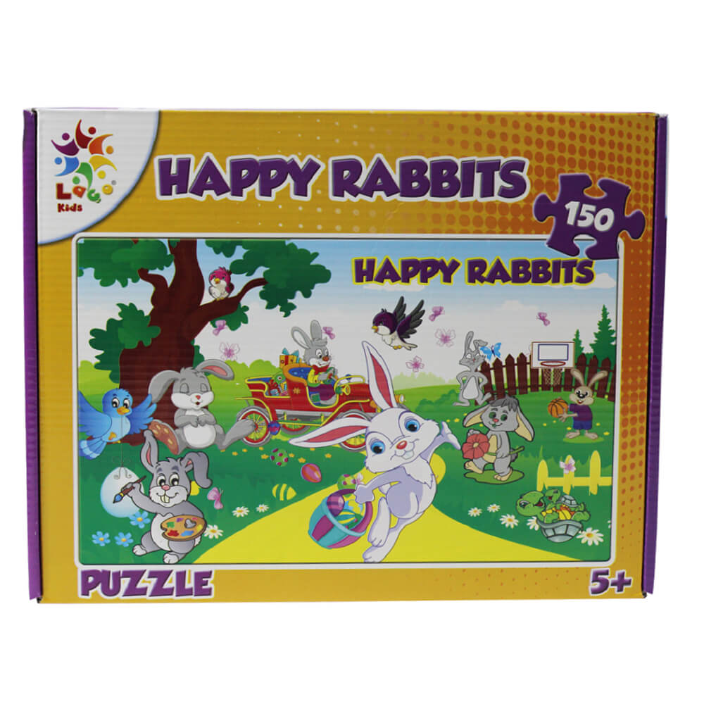 Laço Kids Puzzle Happy Rabbıt 150 Prç 26x40 LC15002