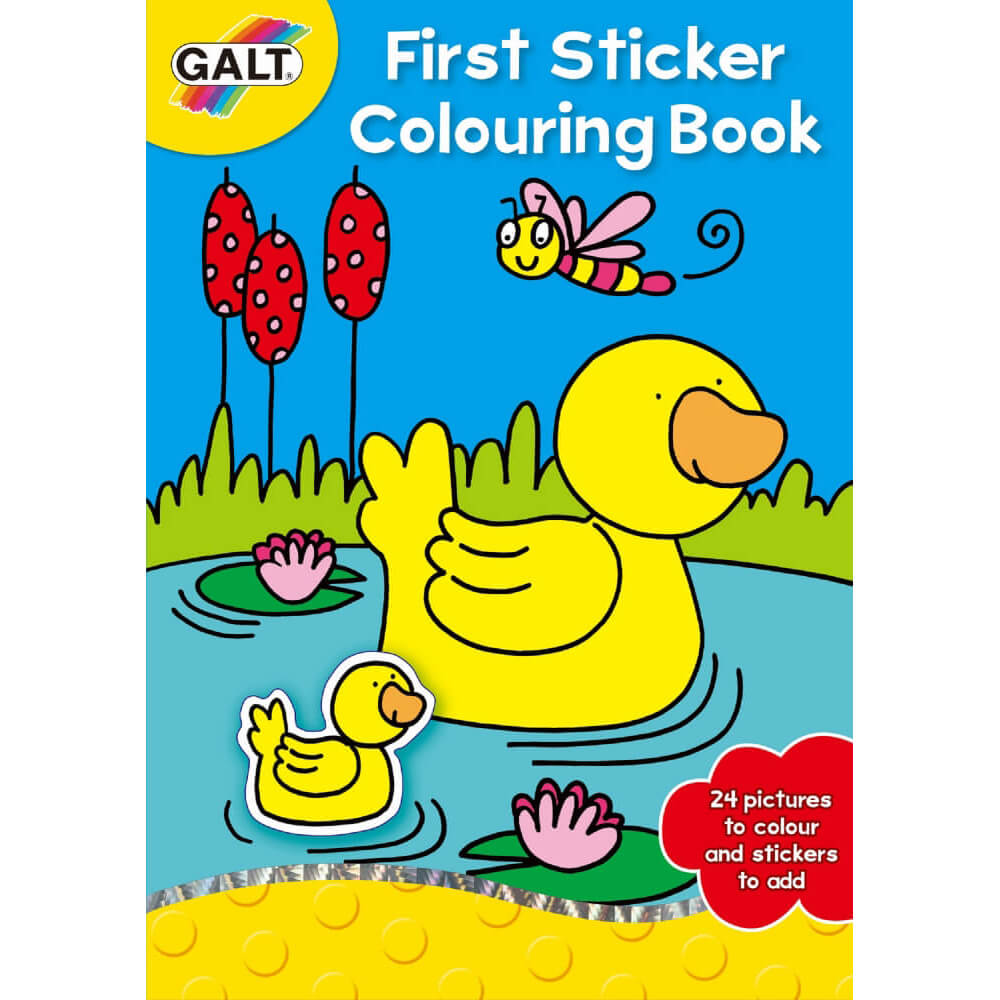 Galt First Sticker Colouring Book 3 Yaş+ A3068C