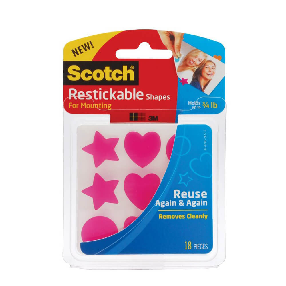 Scotch Reusable Şeffaf Kare 24mmx24mm R100