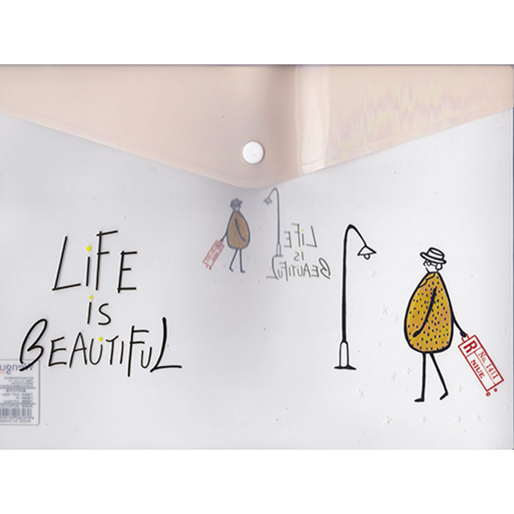 Unick Color Çıt Çıtlı Dosya Life Is Beatiful 3329